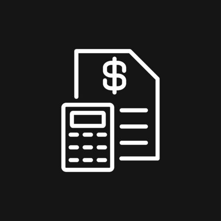Budget, accounting vector icon. Business and financial symbol 向量圖像
