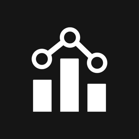 Analytics icon. Vector illustration style is flat iconic symbol, black color 일러스트