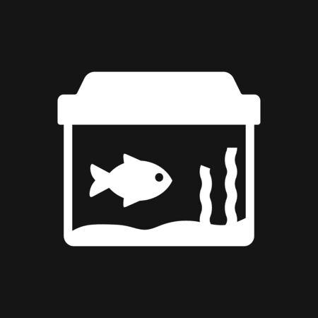 Vector aquarium fish silhouette illustration, icon for your design. 向量圖像