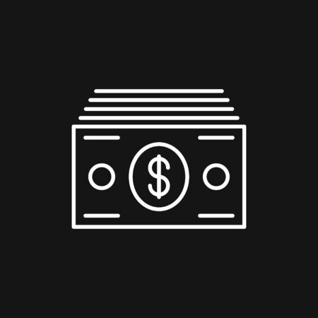 Currency Banknotes vector icon. Illustration style is a flat iconic bicolor intensive red and black symbol on white background.