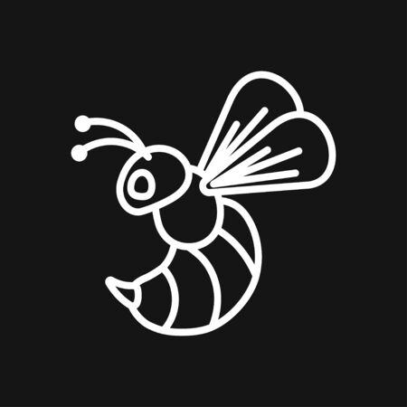 Honey bee icon. Farm animal sign. Graph symbol for your web site design, app, UI. Vector illustration