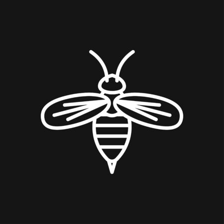 Honey bee icon. Farm animal sign.