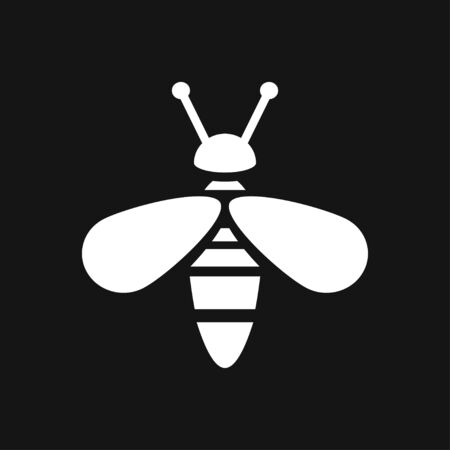 Honey bee icon. Farm animal sign.