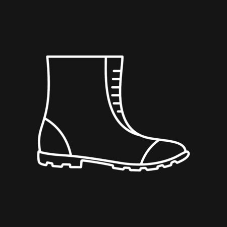 Boot vector icon, high shoe icon, working boot icon, men shoe Banque d'images - 131824802