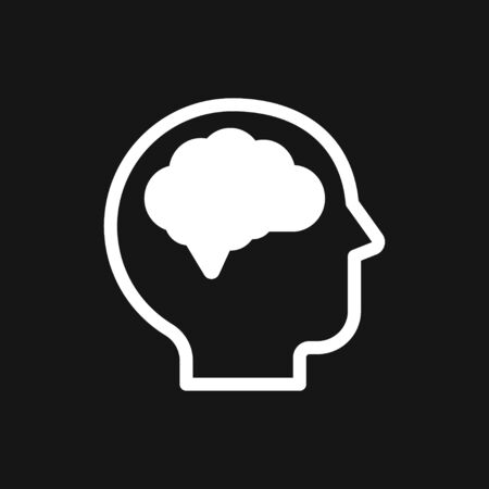 Brain vector icon. Simple illustration isolated on background for graphic and web design.