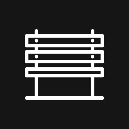 Workbench icon. Simple illustration of work bench vector icon isolated on background Çizim