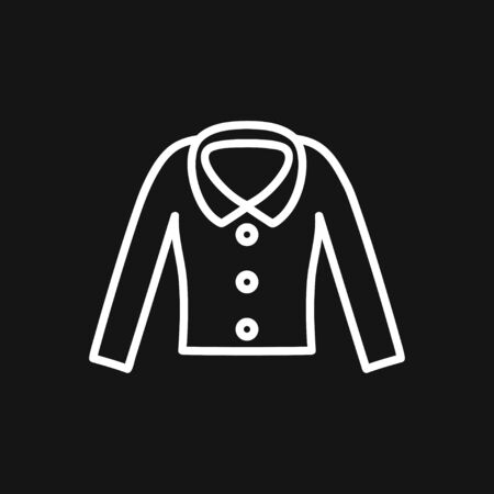 Woman blouse, tunic flat icon. Classic women apparel store sign. Ilustrace