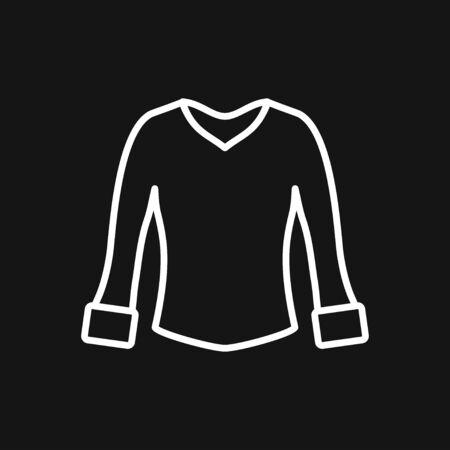 Woman blouse, tunic flat icon. Classic women apparel store sign. Illustration