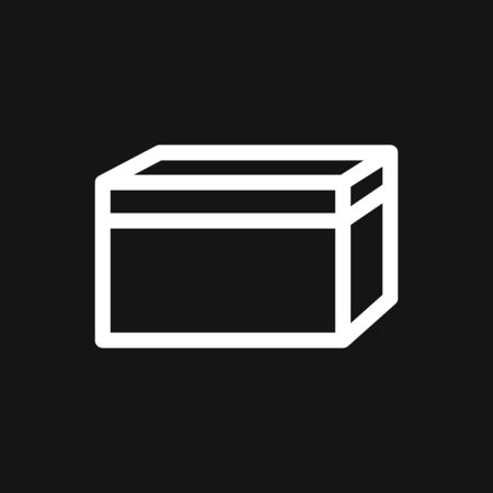 Box icon in modern style. High quality pictogram for web site design and mobile apps. Vector illustration on a white background. Çizim