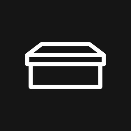 Box icon  in modern style. High quality pictogram for web site design and mobile apps. Vector illustration on a white background.