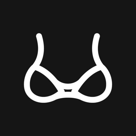 Bra, women underwear icon. Vector illustration flat design