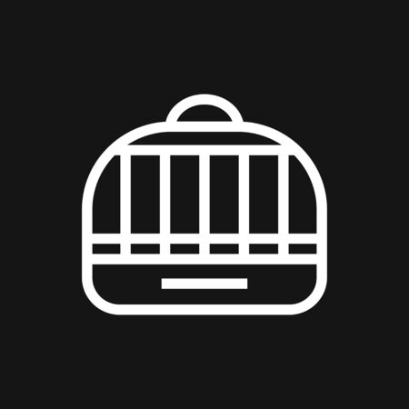 Bird cage icon for your design. Vector illustration. Editable Stroke. Stock fotó - 131200511