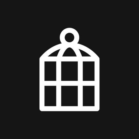 Bird cage icon for your design. Vector illustration. Editable Stroke.