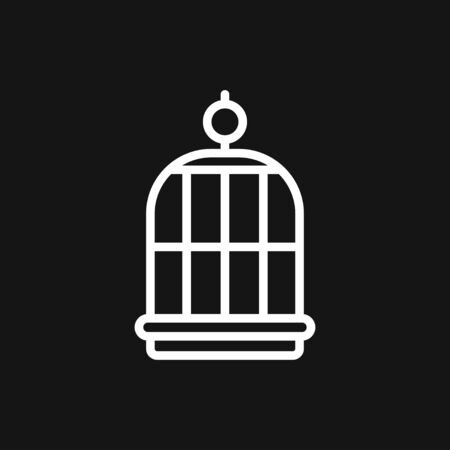 Bird cage icon for your design. Vector illustration. Editable Stroke. Stock fotó - 131200658