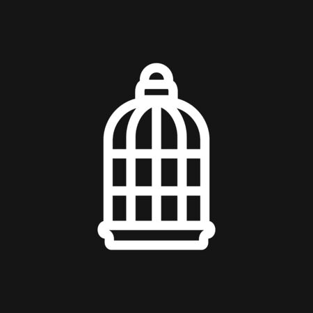 Bird cage icon for your design. Vector illustration. Editable Stroke. Stock fotó - 132368046