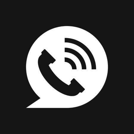 Call icon in trendy flat style isolated on grey background.