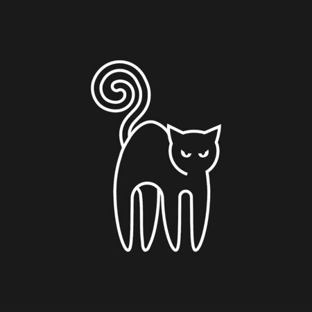 Cat icon design vector template Flat style.Home pet veterinary clinic store Logotype concept icon