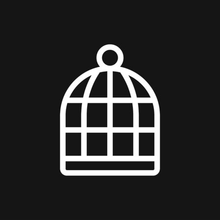 Bird cage icon for your design . Vector illustration. Editable Stroke.