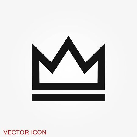 Crown Icon in trendy flat style isolated on background. Crown symbol for your web site design