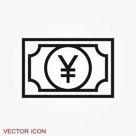 Money Currency Icon design template. Illustration