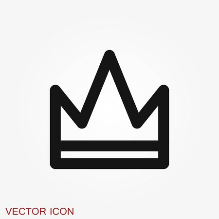 Crown Icon in trendy flat style isolated on background.