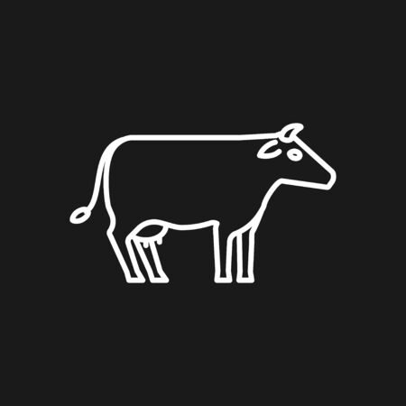 Cow icon. High quality symbol of animal for web design or mobile app.