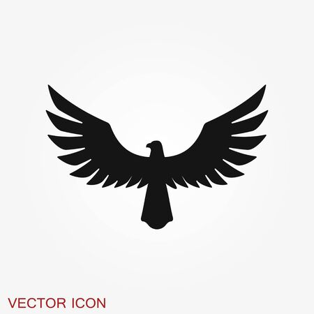 Eagle icon. Logo design vector template, Luxury corporate heraldic Falcon Phoenix Hawk bird Logotype concept icon.