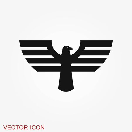 Eagle icon. design vector template, Luxury corporate heraldic Falcon Phoenix Hawk bird Logotype concept icon. Иллюстрация