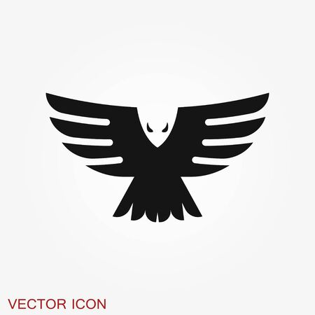 Eagle icon design vector template, Luxury corporate heraldic Falcon Phoenix Hawk bird Logotype concept icon.