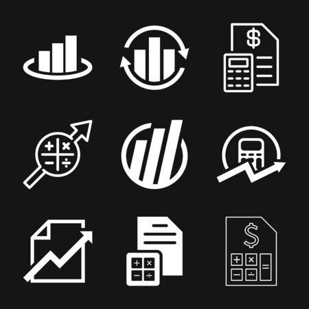 Budget, accounting vector icon. Business and financial symbol Illusztráció
