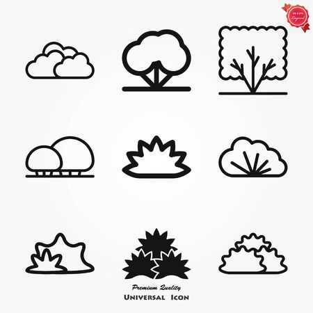 Bushes icon, vector silhouette isolated on background. dendrology collection. graphic template. vector illustration.