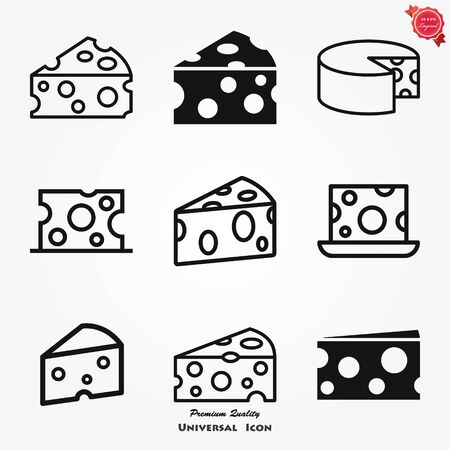 Cheese icon vector, filled flat sign, solid pictogram isolated on white