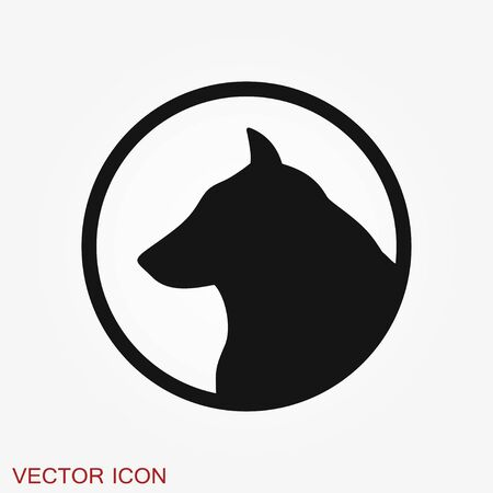 Dog icon . Vector symbol for your design