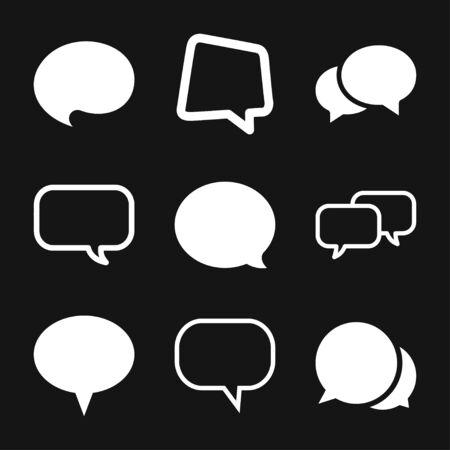Speech bubble icons on background. Vector flat illustration.