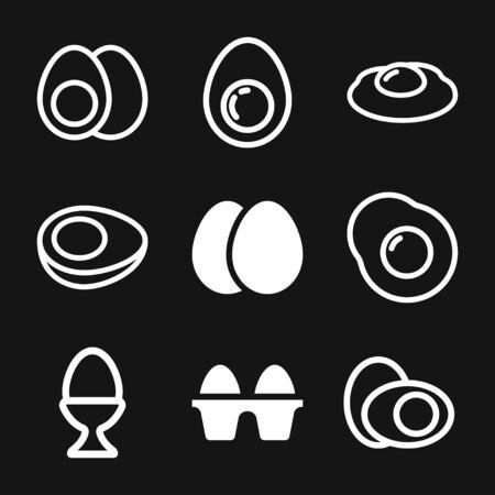 Egg vector icon, breakfast food symbol. Modern, simple flat vector illustration for web site or mobile app Иллюстрация