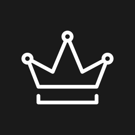 Crown Icon in trendy flat style isolated on background. Crown symbol for your web site design, logo, app, UI. Vector illustration, EPS10