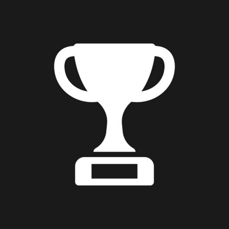Trophy cup icon. Sport competition silhouette symbol. Vector illustration. Illusztráció