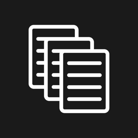 Document flat icon, Document vector icon. Illustration isolated for graphic and web design