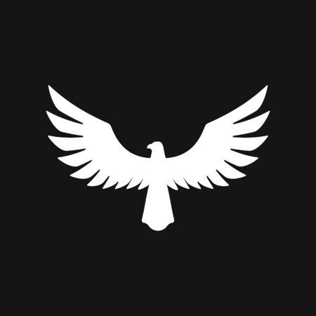 Eagle icon. Logo design vector template, Luxury corporate heraldic Falcon Phoenix Hawk bird Logotype concept icon.