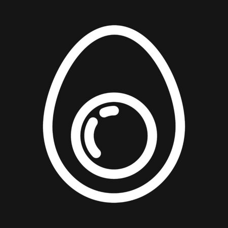 Egg vector icon, breakfast food symbol. Modern, simple flat vector illustration for web site or mobile app Фото со стока - 132208532