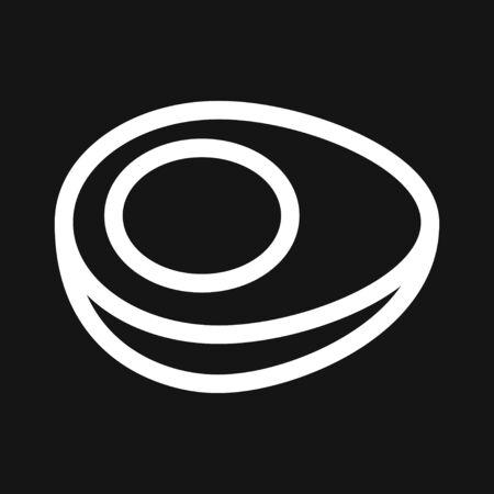 Egg vector icon, breakfast food symbol. Modern, simple flat vector illustration for web site or mobile app Illustration