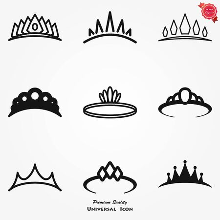 Vector Diadem icon in flat style. Royalty crown illustration pictogram. King, princess royalty business splash effect concept.