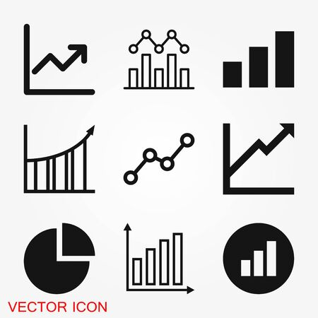 Diagram and graphs vector icons for design.