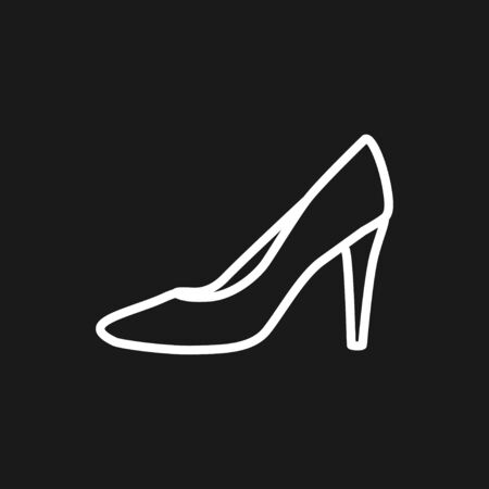 Heelhigh icon, vector woman shoes symbol Ilustração