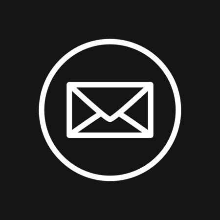 Vector mail envelope and letter icon set Vecteurs