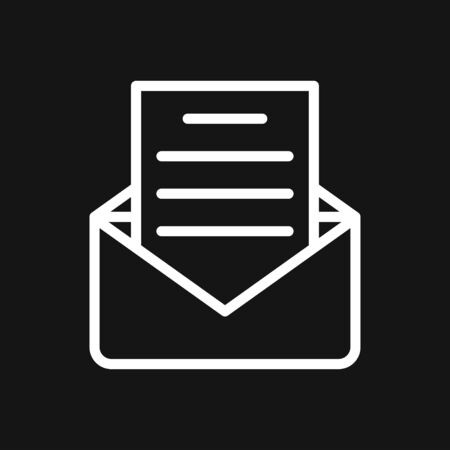 Vector mail envelope and letter icon set 일러스트