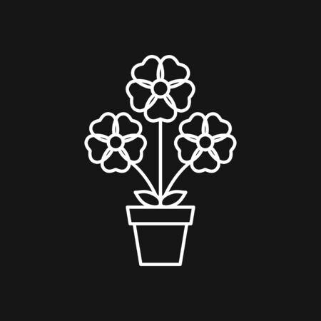 Flowerpot icon, vectorized plants in a pot, flower Reklamní fotografie - 138097250