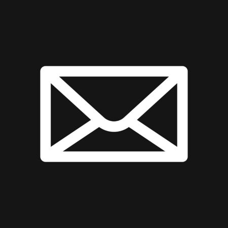 Envelope icon, vector mail envelope and letter symbol