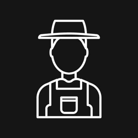Farmer icon - vector farmer avatar or symbol
