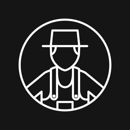 Farmer icon - vector farmer avatar or symbol Foto de archivo - 138097358